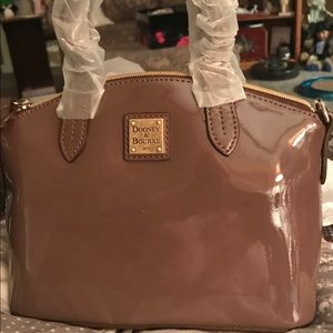 NWT DOONEY & Bourke Patent Leather Bag in Mink